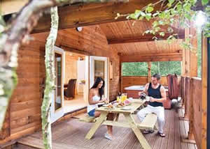 Self catering breaks at Badger Plus 6 at Quarry Walk Lodges in Freehay Cheadle, Staffordshire
